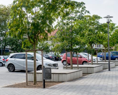Umfeldmaßnahme Rathaus/Hallenbad in Einhausen