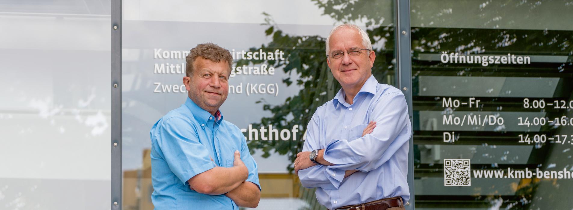 Geschäftsführer Frank Daum und Verbandsvorsitzender Helmut Sachwitz