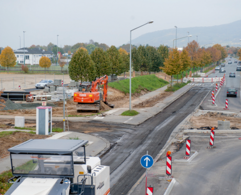 Bau Kreisverkehrsplatz Berliner Ring