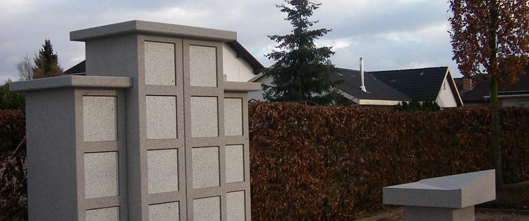Urnenstelen jetzt auch auf den Friedhöfen in Fehlheim, Gronau und Schönberg