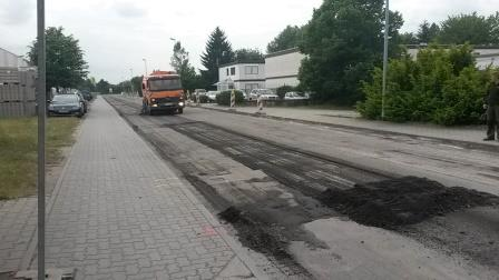 Erneuerung der Fahrbahndecke in der Ampérestraße